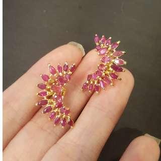 (sold) ruby earring 925