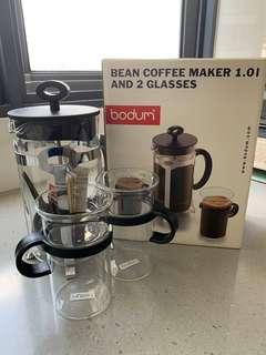 BODUM Coffee Maker with 2 glasses