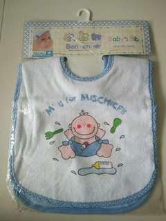 🚚 BNIP 2 pcs Baby Bibs with PVC Lining