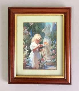 Vintage Flowers for Grandma Art Print Framed UK
