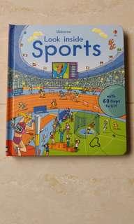 Usborne look inside sports book, 英文圖書