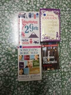 Variety of well know Love story novels
