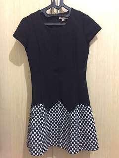 Black Polkadot Mini Dress