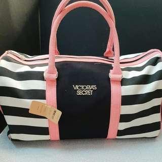 Victoria secret victoria's bag travelling tas stripe