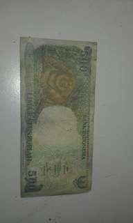 Uang Lama 500 rupiah gambar si monyet