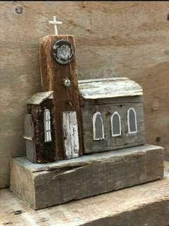 A Little Rustic Church on the hill