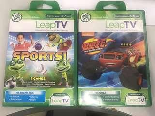 Leapfrog Leap TV console + 2 games