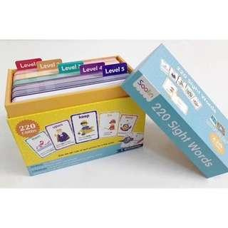 🚚 Saalin 220 Sight Words Flash Card box set