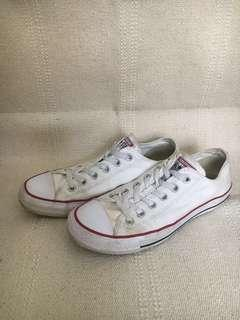 White converse all start low top