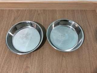 Large stainless steel plate bowl