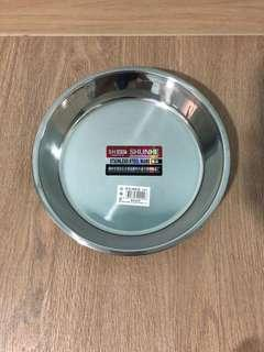 New stainless steel pet plate bowl