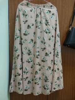 Floral long skirt with innerk