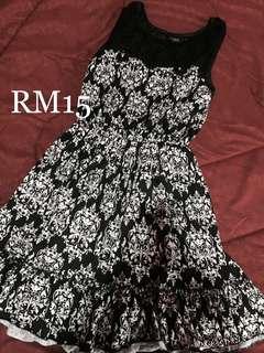 Lace Black&White Dress