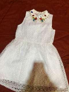 Fancy White Diamond Dress