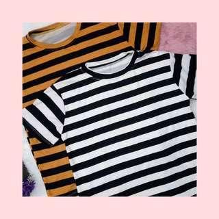 On sale! Tshirt style b&w striped top