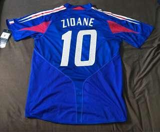 2004法國隊主場短袖(球員版) #10施丹, size L