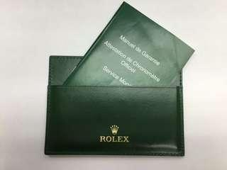 *In Stock* Rolex Green Leather Card Holder