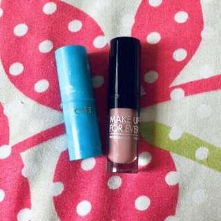 MUFE and Tarte Mini Lipstick