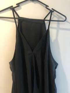 Black sheer singlet size 12-14