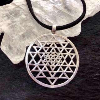 🚚 Shree Yantra/ Sri Yantra Silver Pendant