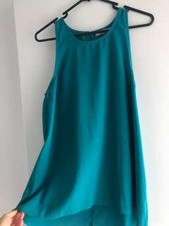 Turquoise top size 12
