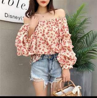 🚚 [PO] Floral Off Shoulder Top