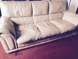 LORENZO Sofa 3 Seater leather seat