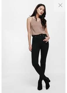 BNWT Love, Bonito Greta High-rise Black Skinny Jeans