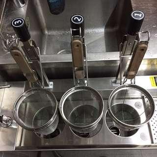 落地型自動升降煮麵機-三孔