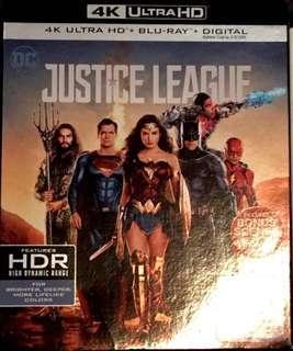 正義聯盟 Justice League 4K + Blu-ray (美版中字)