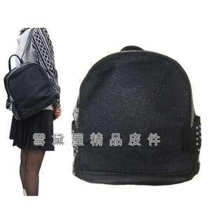 ~雪黛屋~COUNT 後背包中型容量主袋+外袋共三層進口防水尼龍布+皮革材質二層主袋BCD50002101200