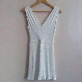 Mango Short White Dress