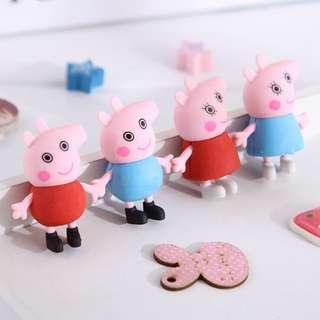 可愛 小豬造型 橡皮擦 喬治 佩佩豬 橡皮擦 個別包裝 修正 工具  學習 用品 開學 小學生 獎品 禮物