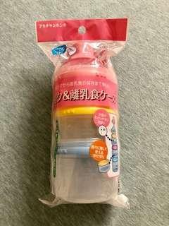 全新日本製Akachan奶粉格/離乳食物盒