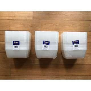 3 New STEPOINT High Quality Clear Disposable Container Packs!