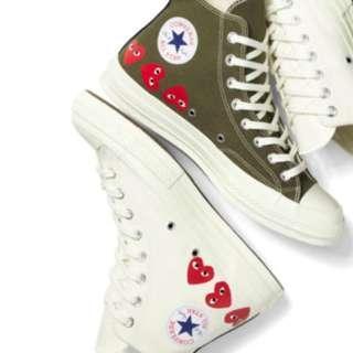 【現貨 日本製】CDG Play Converse Chuck Taylor All  Star 70 男裝 女裝 comme des Garcons 高筒白色 心心眼款
