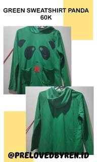 GREEN SWEATSHIRT PANDA