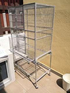 Small bird breeding cage