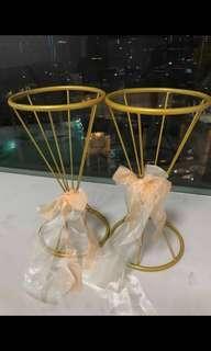 銅色花架 一對$50 結婚佈置/reception 攞設/結婚物資
