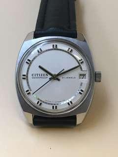 古董citizen 手上弦日曆手錶