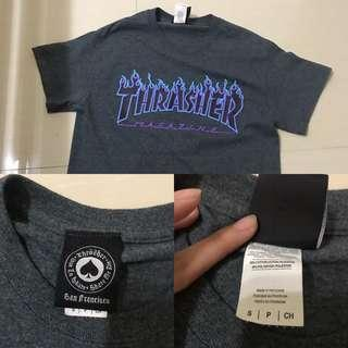 thrasher flaming tea dark heather