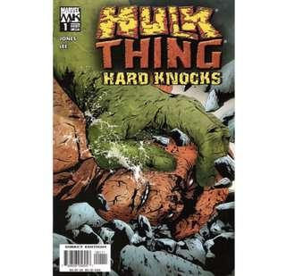 🚚 HULK and THING: HARD KNOCKS #1 (2004) 1st issue!