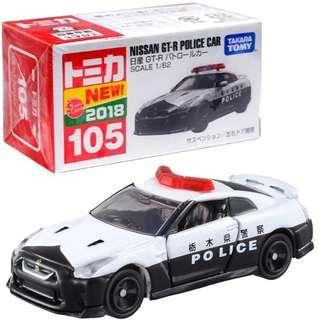 TOMICA NO.105 NISSAN SKYLINE GTR R35 JAPAN POLICE GT-R