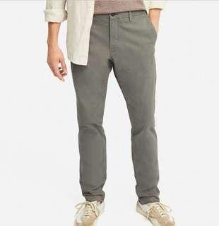 Uniqlo Men Slim-Fit Chino Flat-Front