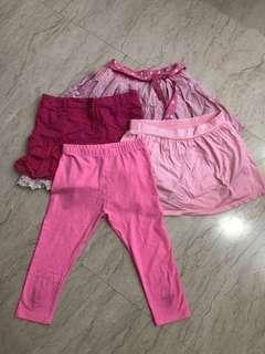 🚚 Girls skirts and tights (6-8 years old)