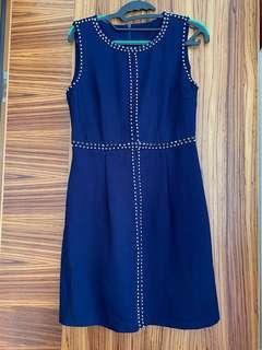 Studded navy color dress 斯文裙
