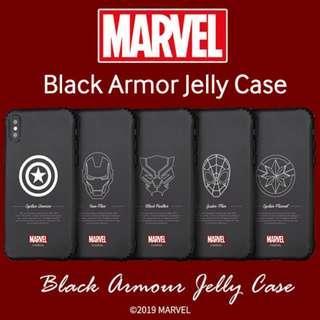 ★Authentic★Marvel Black Armor Jelly Case