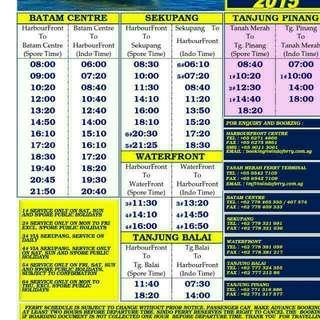 BATAM SINDO FERRY E-TICKET. SINGAPORE - BATAM - SINGAPORE. TRANSPORT ALSO AVAILABLE AT SPECIAL PRICE