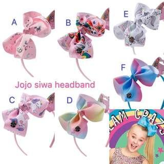 Jojo Siwa 幻彩小蝴蝶結頭箍 #kids300