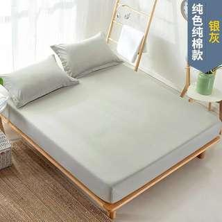 Fitted Bed Sheet Grey King size